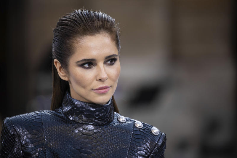 Singer Cheryl wears a creation as part of the L'Oreal Ready To Wear Spring-Summer 2020 collection, unveiled during the fashion week, in Paris, Saturday, Sept. 28, 2019. (Photo by Vianney Le Caer/Invision/AP)