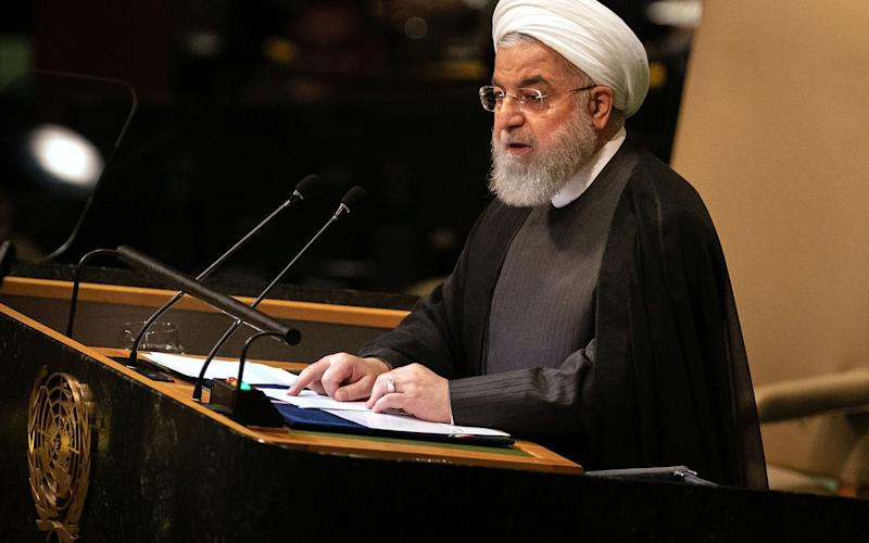 Hassan Rouhani, Iran's president, speaks during the UN General Assembly meeting in New York, U.S., on Tuesday  - Bloomberg