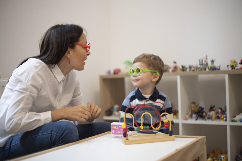 People often think that seeing a psychologist involves sitting in a quiet, calm space but with children it's very different. (posed by models, Getty)