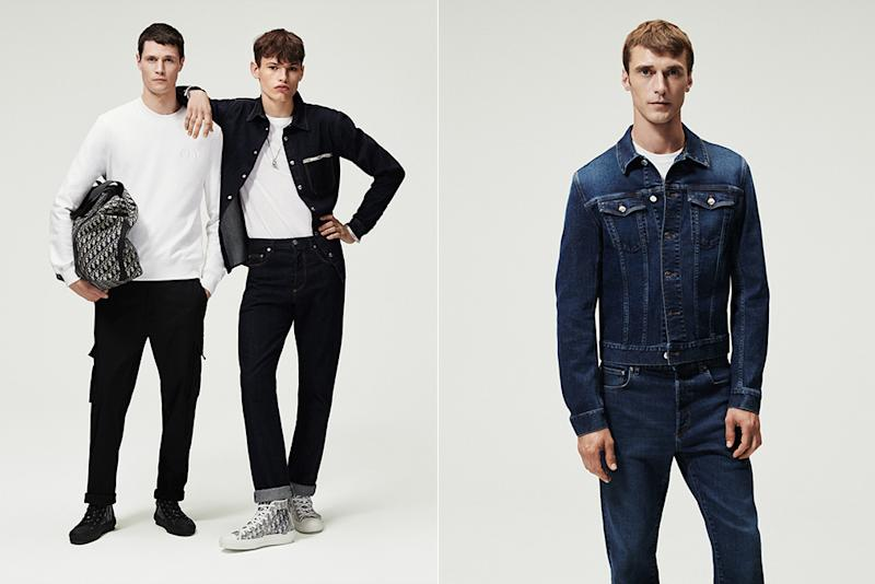 Streetwear and denim from Dior's new men's essentials collection.