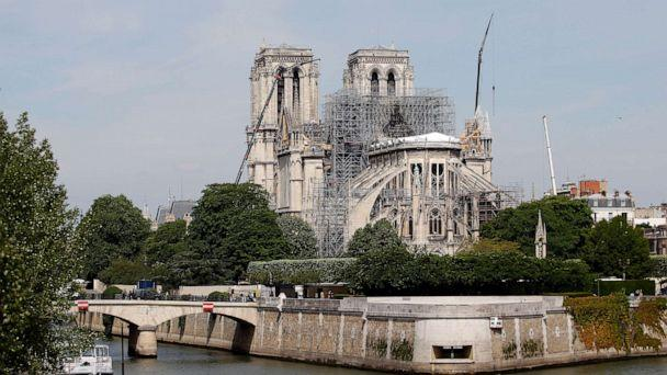 PHOTO: Notre Dame cathedral is pictured after the massive fire that ravaged the monument, May 23, 2019, in Paris. (Chesnot/Getty Images)