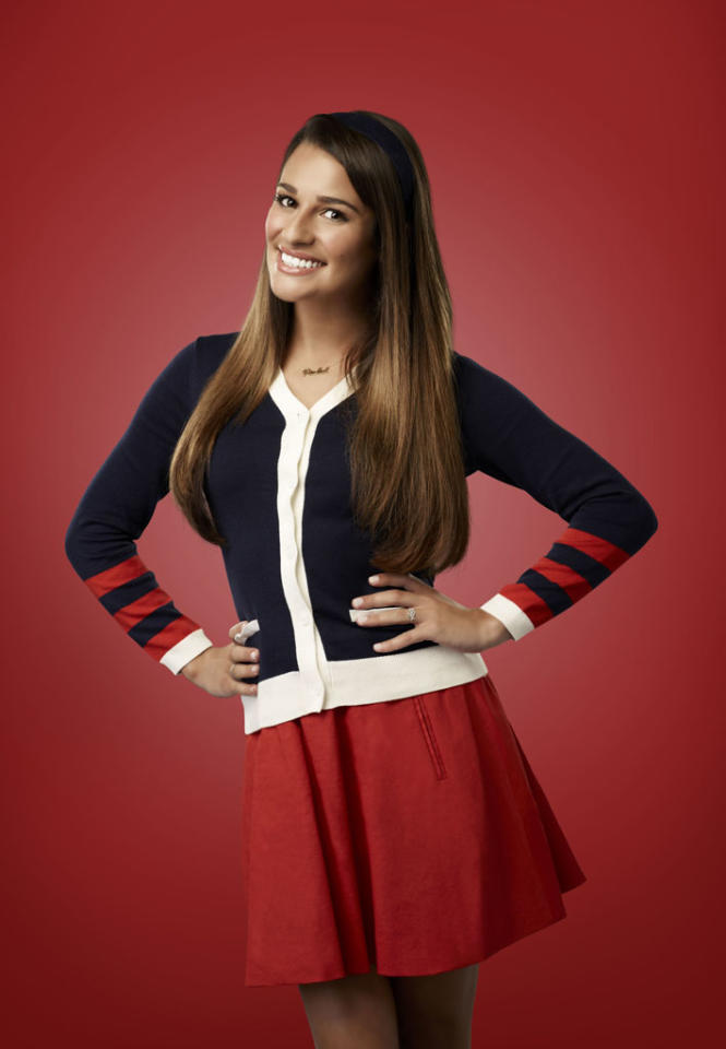 "Lea Michele as Rachel in ""Glee."""