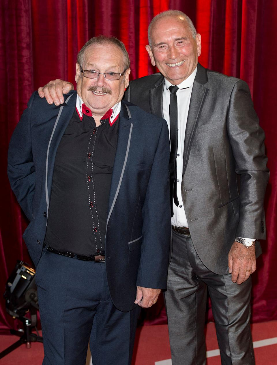Bobby Ball and Tommy Cannon at the British Soap Awards in 2013 (Photo: Mark Cuthbert via Getty Images)