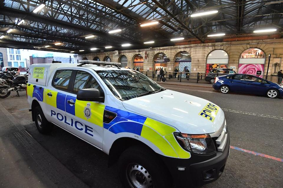 A British Transport Police vehicle at Waterloo Railway Station, London, last week (Picture: PA)