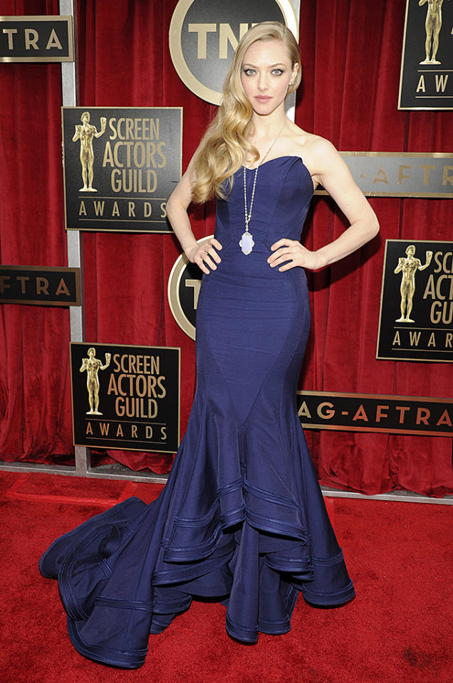 LOS ANGELES, CA - JANUARY 27:  Amanda Seyfried attends the 19th Annual Screen Actors Guild Awards at The Shrine Auditorium on January 27, 2013 in Los Angeles, California. (Photo by Kevin Mazur/WireImage) 23116_016_0579.jpg *** Local Caption *** Amanda Seyfried