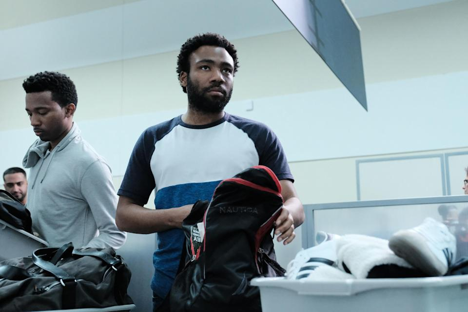 """RJ Walker and Donald Glover from """"Crabs in a Barrel"""" (Season 2, ep 211)"""