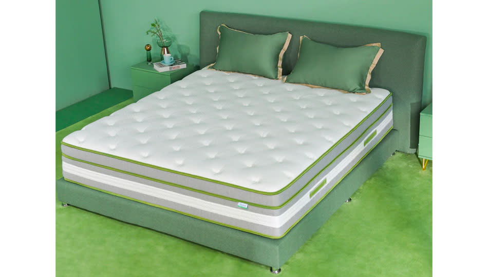 The ideal foam-spring combo to keep you comfy — and cool — all night long. And what a price!  (Photo: Wayfair)