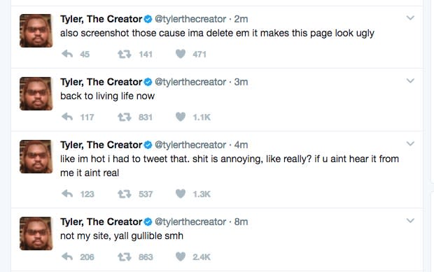 Tyler, the Creator Denies Connection to Website Hinting at New Album