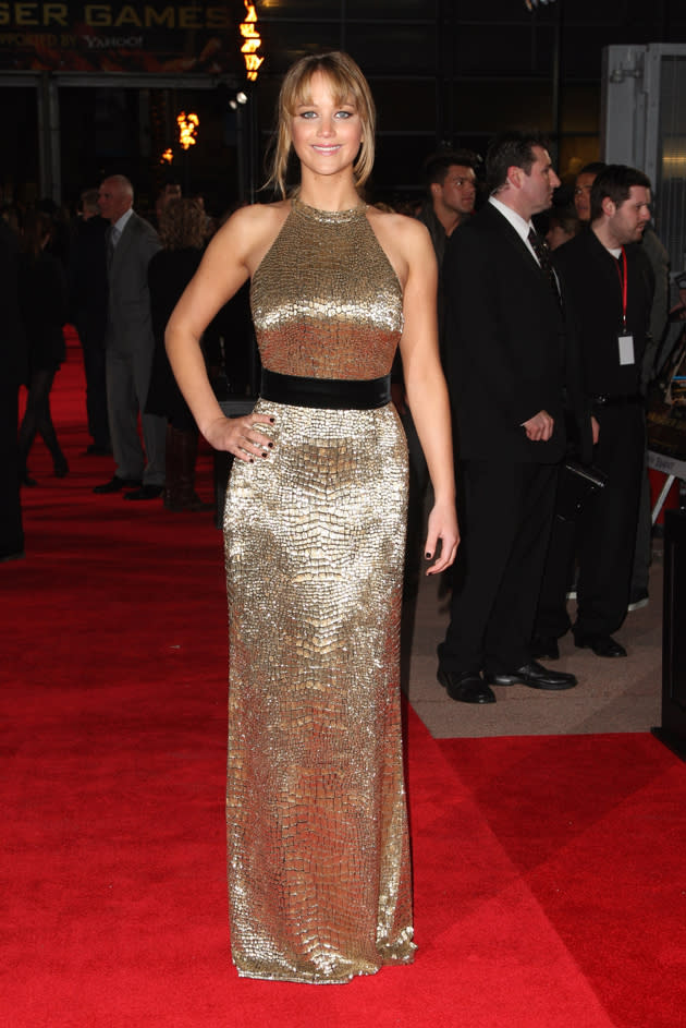 The Hunger Games UK Premiere photos: Jennifer Lawrence.