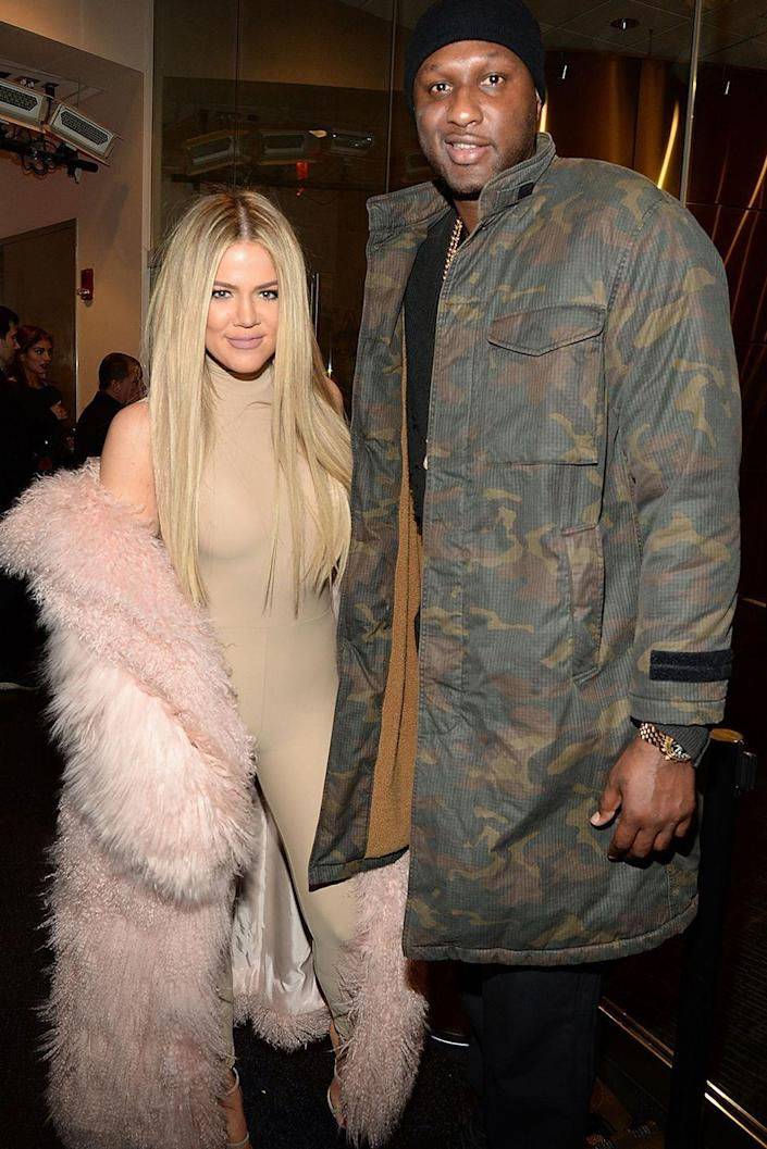 """<p>Back in 2009, they met, got engaged, and were married all in the span of a month, according to <em><a href=""""https://www.etonline.com/news/174085_lamar_odom_and_khloe_kardashian_a_timeline_of_their_relationship"""" rel=""""nofollow noopener"""" target=""""_blank"""" data-ylk=""""slk:ET"""" class=""""link rapid-noclick-resp"""">ET</a></em>. We all know how that one turned out. (Spoiler: a very public divorce.)</p>"""