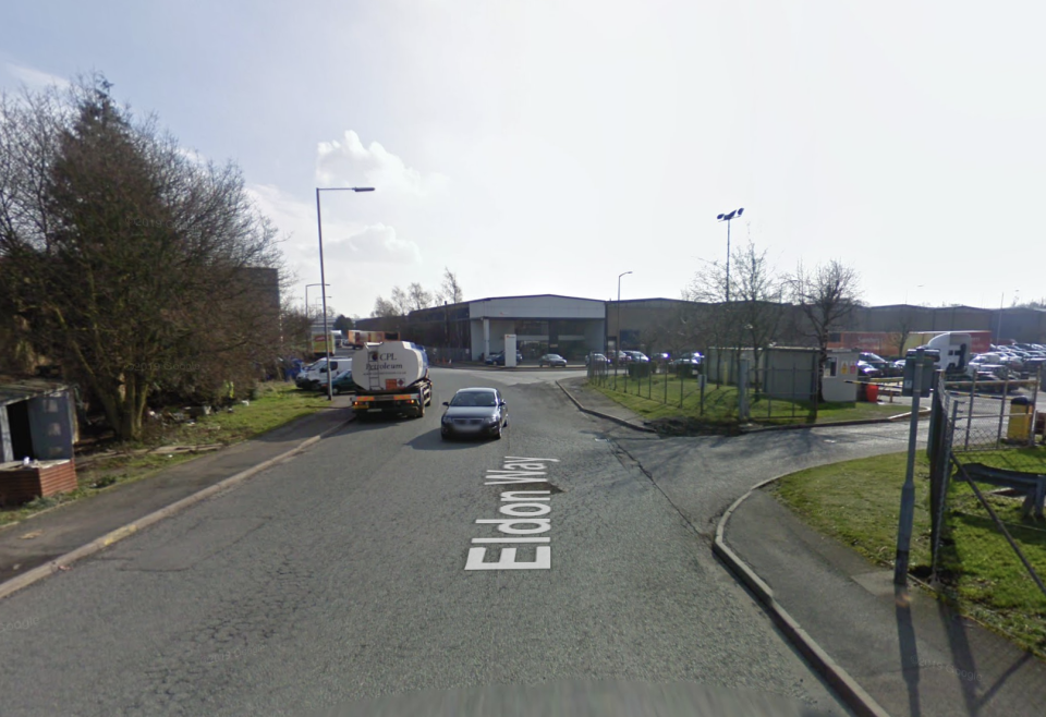 The lorry was heading for a business park in Crick. (Google Maps)