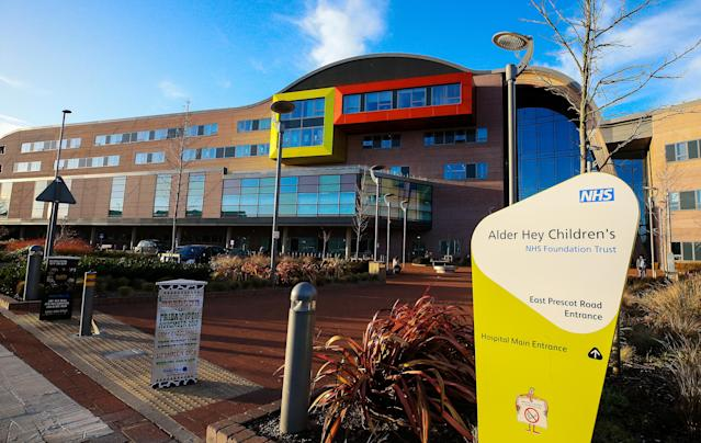 A file image of Alder Hey Children's Hospital in Liverpool. (PA)