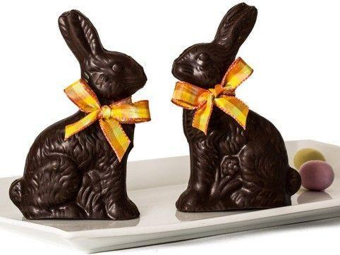 """<p><strong>Li-Lac Chocolates</strong></p><p>li-lacchocolates.com</p><p><strong>$22.00</strong></p><p><a href=""""https://www.li-lacchocolates.com/Chocolate-Easter-Bunny-10oz"""" rel=""""nofollow noopener"""" target=""""_blank"""" data-ylk=""""slk:Shop Now"""" class=""""link rapid-noclick-resp"""">Shop Now</a></p><p>This New York City chocolatier crafts each six-inch-tall bunny by hand—festive ribbon included! Choose from milk and dark chocolate. </p>"""
