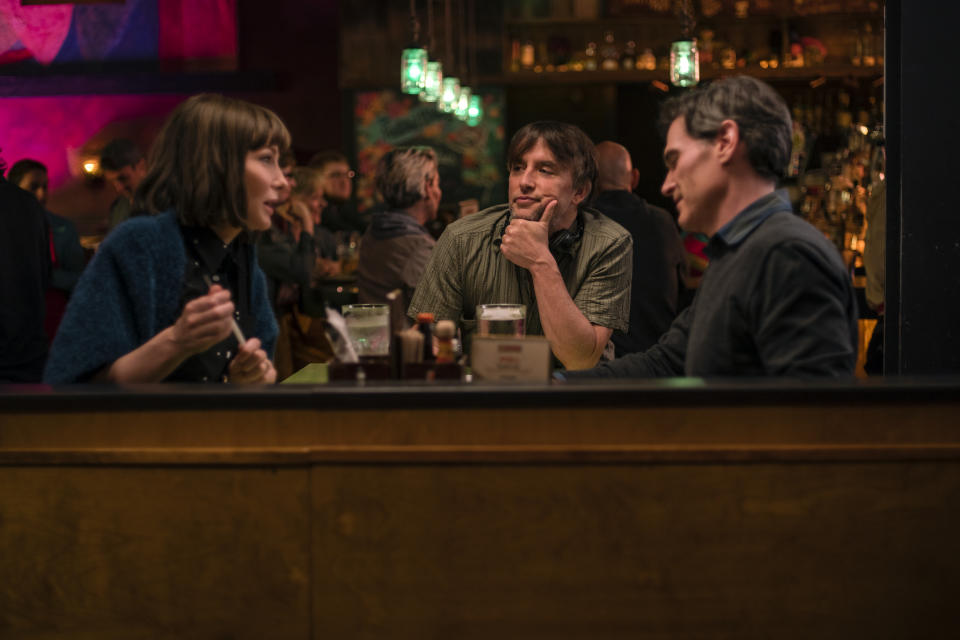 Blanchett, Richard Linklater and Billy Crudup on the set of 'Where'd You Go, Bernadette' (Photo: Wilson Webb / Annapurna Pictures)