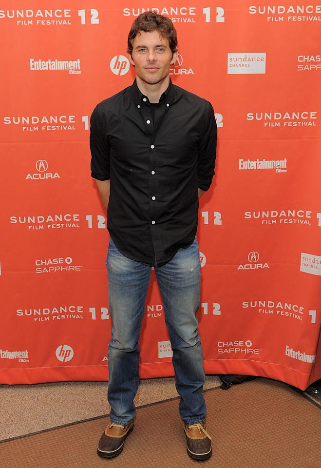 "PARK CITY, UT - JANUARY 23:  James Marsden attends the ""Bachelorette"" premiere during the 2012 Sundance Film Festival held at Eccles Center Theatre on January 23, 2012 in Park City, Utah.  (Photo by Jemal Countess/Getty Images)"