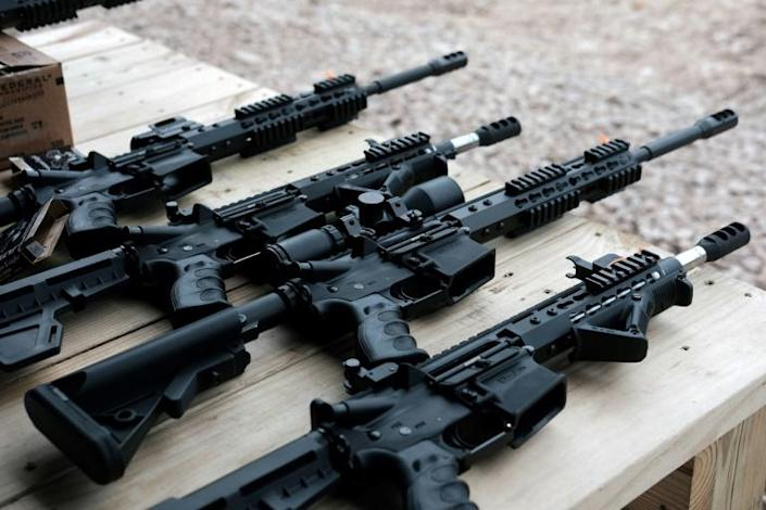 It's possible to assemble a variety of weapons using a kit, including the AR-15, which was used in several recent mass shootings (AFP Photo/SPENCER PLATT)