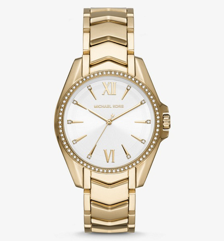 Whitney Gold-Tone Watch. (PHOTO: Michael Kors)