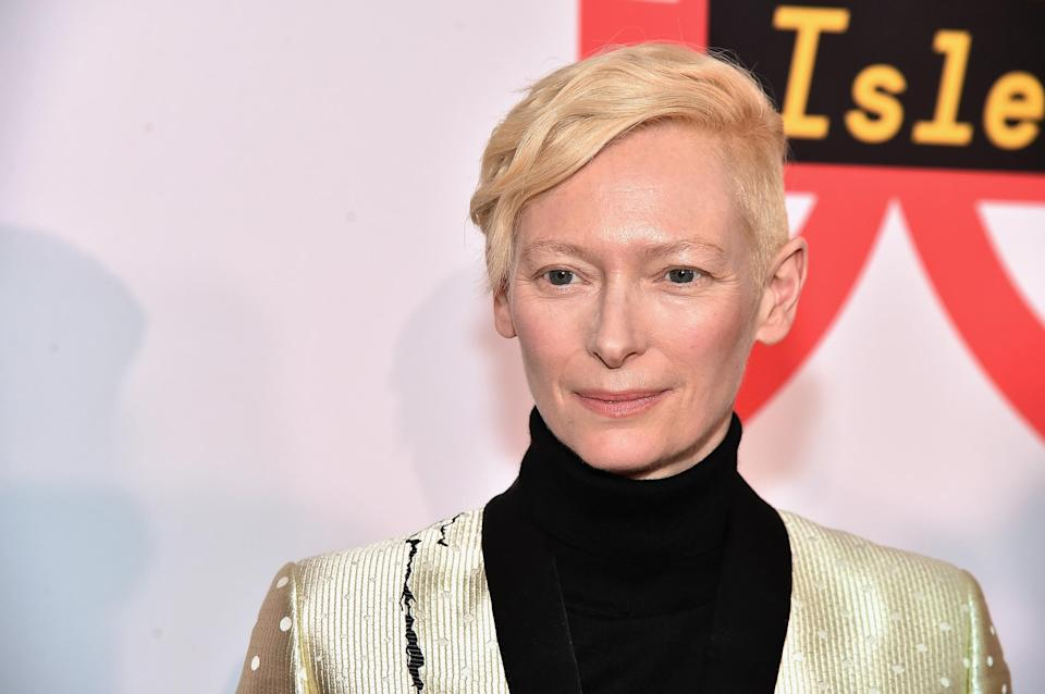 Actress Tilda Swinton has revealed her and her husband are polyamorous (Getty)