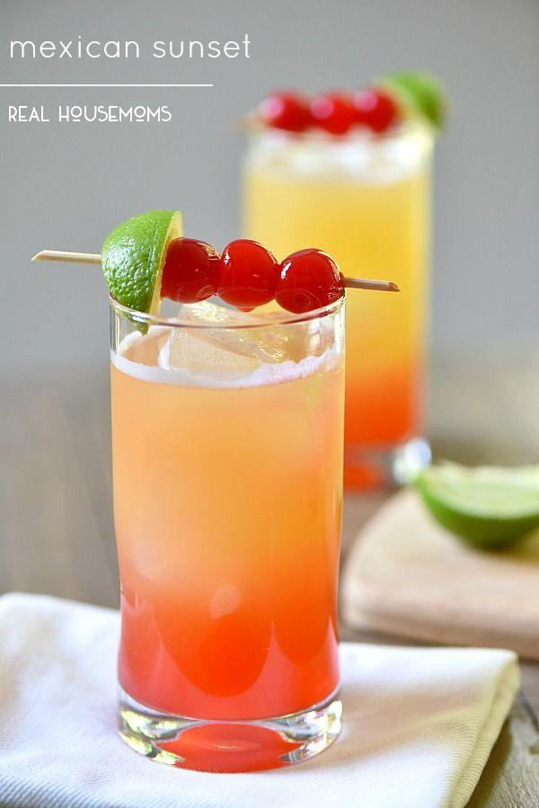 """<p>If you can't watch a Mexican sunset, drink one.</p><p>Get the recipe from <a href=""""http://realhousemoms.com/mexican-sunset/"""" rel=""""nofollow noopener"""" target=""""_blank"""" data-ylk=""""slk:Real Housemoms"""" class=""""link rapid-noclick-resp"""">Real Housemoms</a>.</p>"""