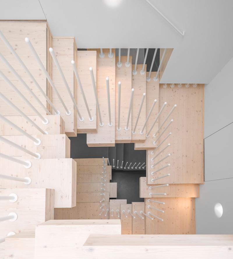 A stairwell inside the home.
