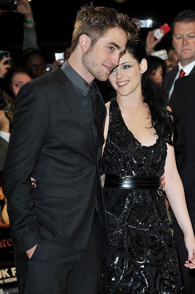 """Robert Pattinson and Kristen Stewart had a huge fight at the London premiere of Breaking Dawn, reveals the <em>Mirror.</em> After Pattinson suggested to his notoriously private girlfriend that they pose """"just the two of them"""" on the red carpet, Stewart """"stormed off."""" For how ugly their fight got, and why they're still barely speaking, log on to <a target=""""_blank"""" href=""""http://www.gossipcop.com/robert-pattinson-kristen-stewart-fight-breaking-dawn-london-premiere-photos-pics/"""">Gossip Cop.</a>"""