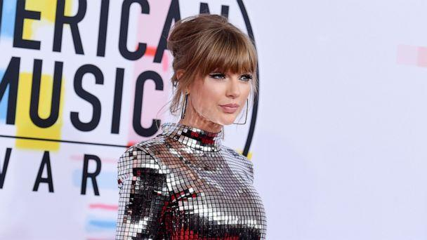 PHOTO: In this Oct. 9, 2018, file photo, Taylor Swift arrives at the American Music Awards at the Microsoft Theater in Los Angeles. (Jordan Strauss/Invision/AP, FILE)