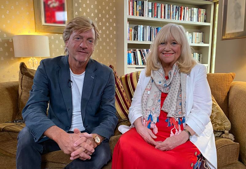 Richard Madeley insists he has not dyed his hair for his new reading show with wife Judy. (Channel 4)