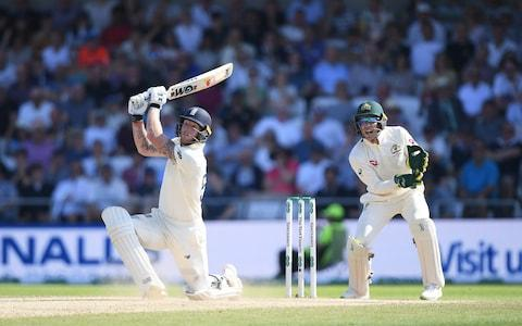 Ben Stokes of England bats watched on by Tim Paine of Australia during Day Four of the 3rd Specsavers Ashes Test match between England and Australia at Headingley - Credit: Getty images