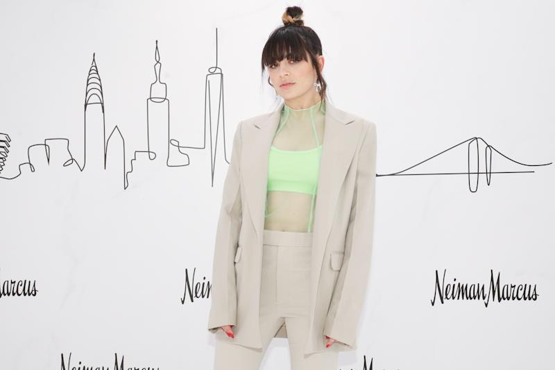 Charli XCX attends the VIP cocktail event at Neiman Marcus for its grand opening at Hudson Yards.