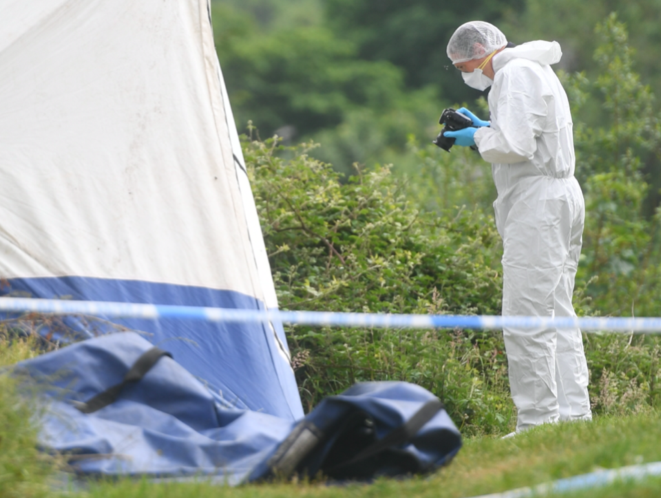 Forensic teams investigate following the rape of a child in Manchester. (Reach)