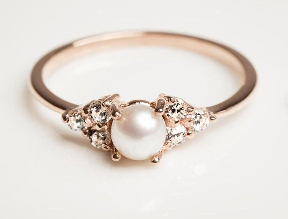 <p>This <span>Rose Gold Engagement Ring</span> ($480) will dazzle everyone.</p>