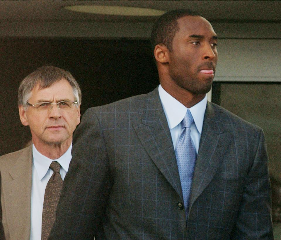 The 2003 rape case is a significant piece of Kobe Bryant's legacy. (Photo by Stephen Chernin/Getty Images)