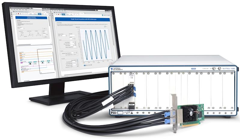 National Instruments hardware and software.