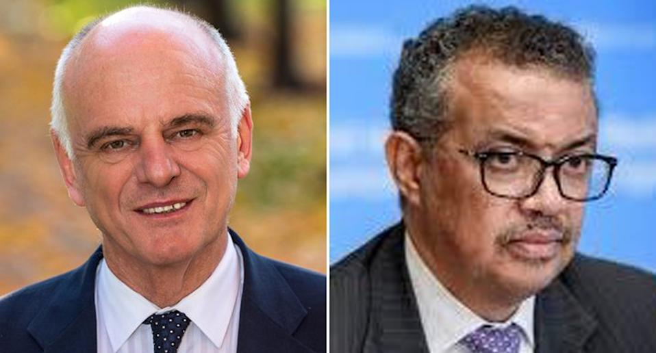 The World Health Organisations Dr. David Nabarro (left)  and Dr Tedros Adhanom Ghebreyesus (right)