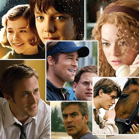 <p><b>BEST MOTION PICTURE - DRAMA</b> <br> <b>NOMINEES:</b> <br>The Descendants <br>The Help <br>Hugo <br>The Ides of March <br>Moneyball <br> War Horse</p>