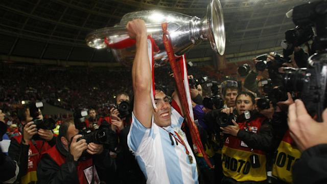 Carlos Tevez final Champions League 2008 Manchester United Chelsea