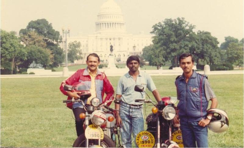 (L-R) Satish Ganapathy, Stanley Rose and Arun Khadse in front of the State Capital Building in Washington DC, USA. Image courtesy: Arun Khadse