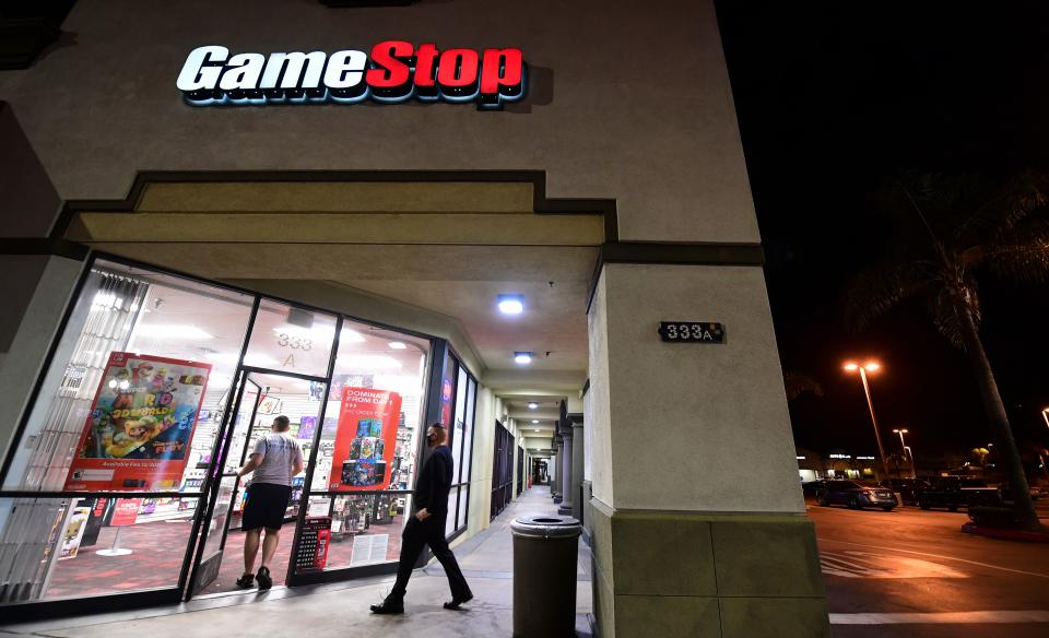 A GameStop store in Alhambra, California, US. Photo: Frederic J Brown/AFP via Getty
