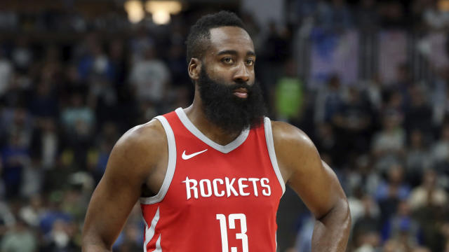 James Harden won his first NBA MVP award Monday, a year after finishing second in voting to former teammate Russell Westbrook. (AP)