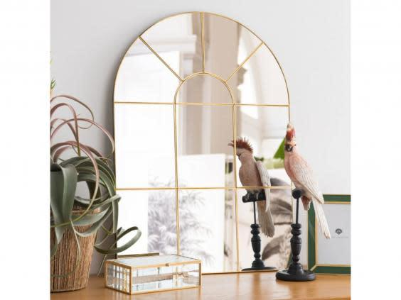 Stylish and functional, this mirror will immediately make a room feel more spacious (Maisons Du Monde)