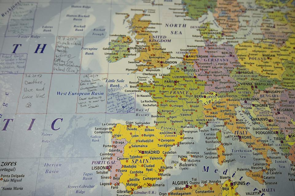 Leaving: A map of Europe. Photo: GLYN KIRK/AFP/Getty Images