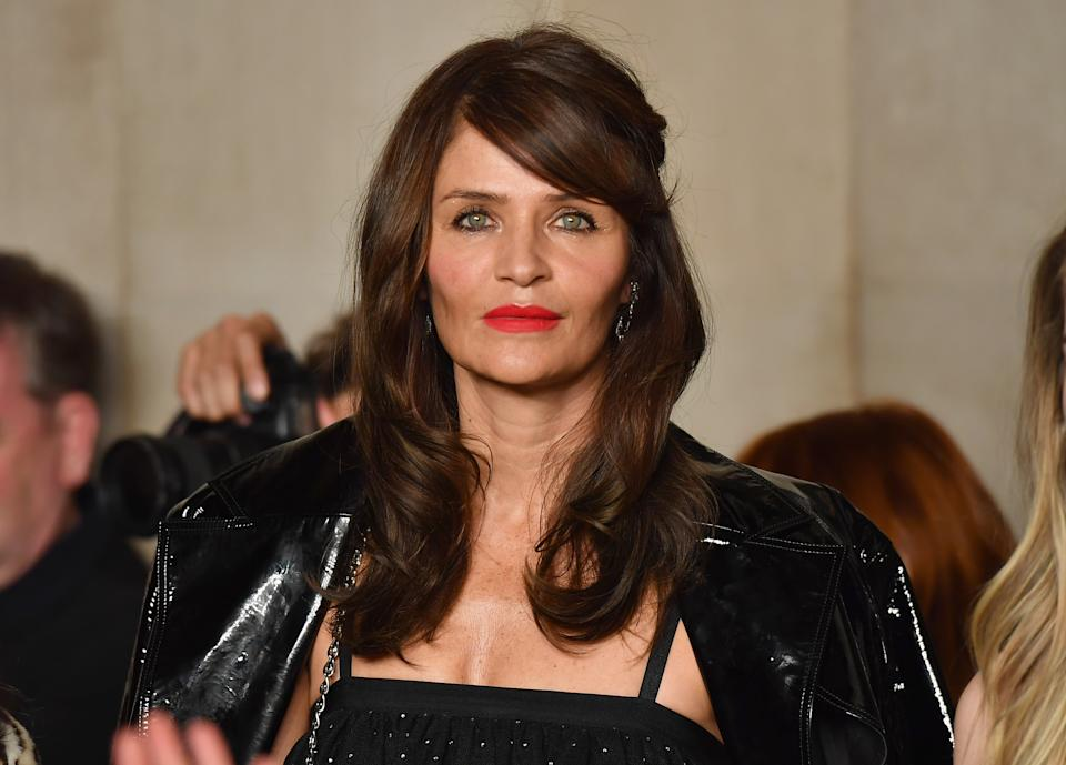 Helena Christensen braved the cold for an icy plunge. (Photo: ANGELA WEISS/AFP via Getty Images)