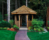 """<p>If you're looking to create a space in your backyard where you can gather with friends or shelter from sun and bugs that isn't attached to the house, perhaps you should consider a gazebo. Gazebos have a nostalgic appeal, but these time-honored outdoor hideaways are actually making a comeback in <a href=""""https://www.countryliving.com/gardening/garden-ideas/g2314/backyard-ideas/"""" rel=""""nofollow noopener"""" target=""""_blank"""" data-ylk=""""slk:backyards"""" class=""""link rapid-noclick-resp"""">backyards</a> all across the U.S. Today's gazebos can complement any decor style, ranging from traditional to modern to farmhouse. No matter your aesthetic, a gazebo adds interest and beauty to the <a href=""""https://www.countryliving.com/gardening/garden-tours/g1432/landscaping-ideas/"""" rel=""""nofollow noopener"""" target=""""_blank"""" data-ylk=""""slk:landscape"""" class=""""link rapid-noclick-resp"""">landscape</a> and offers a cozy, welcoming place to entertain guests. Or, you can simply take a quiet moment there to yourself, all while enjoying the great outdoors. A gazebo can be used for a variety of purposes, including hosting gatherings, <a href=""""https://www.countryliving.com/food-drinks/g31/best-grilling-recipes/"""" rel=""""nofollow noopener"""" target=""""_blank"""" data-ylk=""""slk:dinner parties"""" class=""""link rapid-noclick-resp"""">dinner parties</a>, or even weddings; providing shelter for a hot tub or grill (hello, grillzebo!); or as an intimate space for reading or reflection. </p><p>If you're the handy type, you can build your own gazebo from scratch using just a few simple materials. There are a number of DIY gazebo plans available for free online to help you get started on this exciting outdoor project. Whether you're interested in building your own gazebo or giving the one you already have a much-needed makeover, this round-up of DIY gazebo ideas has got you covered! Simply follow these helpful tutorials to create a beautiful, versatile haven that will keep you coming back outside time after time, season after season. </p"""