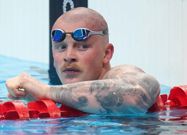 Peaty debuted a clean shaven look on Sunday after sporting a moustache on Saturday night (Adam Davy/PA)
