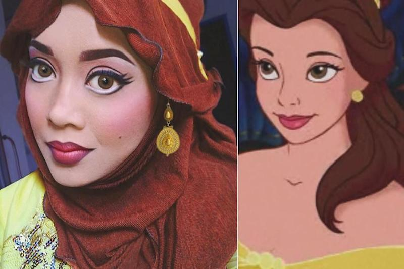 The transformation into Belle from Beauty and the Beast has 31,847 likes on Instagram