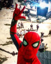 """<p>Holland channeled his inner Peter Parker for this high-altitude shot on July 7, a date that has special signifcance: """"1 Year until<a href=""""https://www.instagram.com/explore/tags/spidermanhomecoming/"""" rel=""""nofollow noopener"""" target=""""_blank"""" data-ylk=""""slk:#spidermanhomecoming"""" class=""""link rapid-noclick-resp"""">#spidermanhomecoming</a> hits theaters, are you ready…thought you would like to see a little selfie I took earlier,"""" he wrote on his Instagram. <i>(<a href=""""https://www.instagram.com/p/BHk9CiRjeEr/"""" rel=""""nofollow noopener"""" target=""""_blank"""" data-ylk=""""slk:Tom Holland/Instagram"""" class=""""link rapid-noclick-resp"""">Tom Holland/Instagram</a>)</i></p>"""