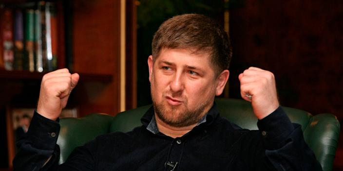 Ramzan Kadyrov, the leader of the Chechnya region of Russia.