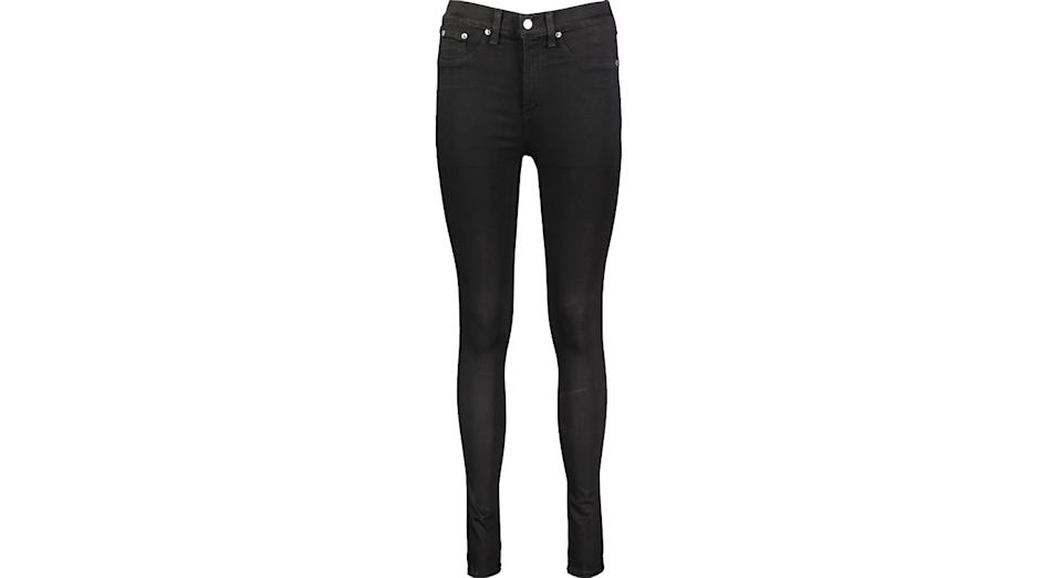 RAG & BONE Black High Rise Skinny Jeans