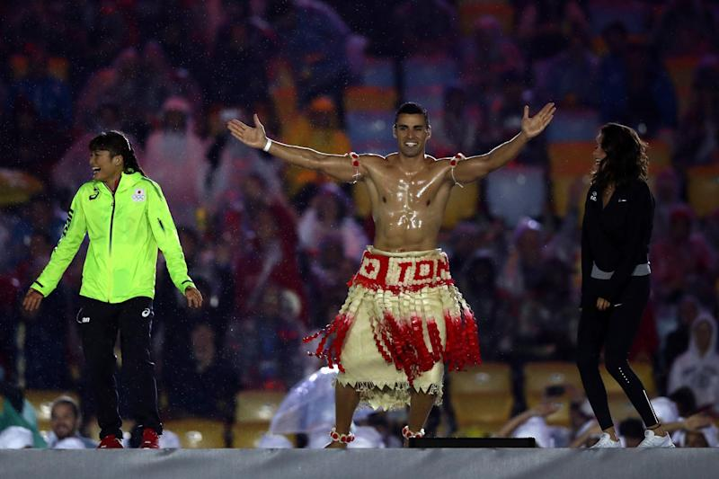 Tonga Winter Olympics 2020.Shirtless Tongan Flag Bearer Could Qualify For The Winter