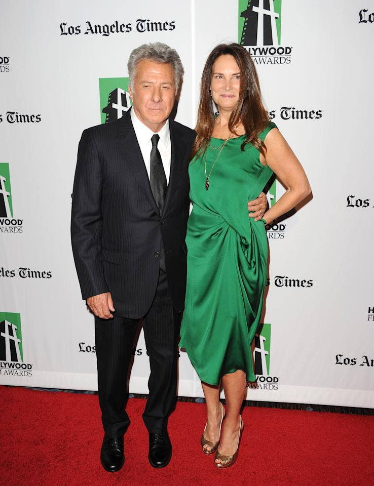 BEVERLY HILLS, CA - OCTOBER 22:  Actor Dustin Hoffman and Anne Byrne Hoffman arrive at the 16th Annual Hollywood Film Awards Gala presented by The Los Angeles Times held at The Beverly Hilton Hotel on October 22, 2012 in Beverly Hills, California.  (Photo by Jason Merritt/Getty Images)